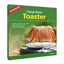 "Coghlans Camp Stove Toaster 9"" Diameter toasts 4 slices at once Folds Flat New"