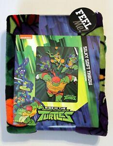 "Rise of the Teenage Mutant Ninja Turtles Silky Soft Throw 40"" x 50"" (New)"