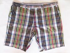 """New Mens Polo Ralph Lauren """"India Madras"""" Casual Checked Shorts W40 XXL Slim Fit"""