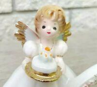 Vintage Josef Originals Birthday Angels 6th Six Figurine Japan Black Eyes