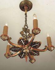 SPECTACULAR! Antique Starburst Ceiling Light Fixture- Professionally Restored!