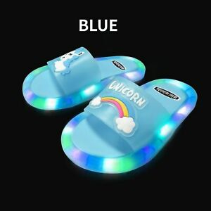 Cartoon Children Luminous Slippers Soft PVC Comfortable For Home Shoes Footwear