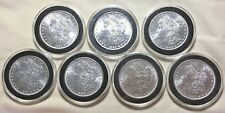 1884 1885 1886 1887 1888 1889 1890 (Lot of Seven) BU $1 Morgan Silver Dollars