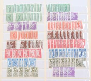 SBZ toller Posten meist postfrisch mit Nr. 1 bis 7 B mehrfach usw.
