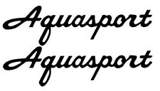 """PAIR OF 5""""X28"""" AQUASPORT BOAT HULL DECALS. MARINE GRADE. YOUR COLOR CHOICE"""