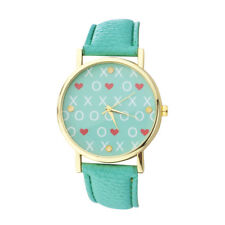 Watch Face and Mint Watch Band Watch Lux Accessories Mint and Gold Tone Xo love