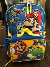 Nintendo Super Mario  Backpack with Detachable Lunch Bag NEW
