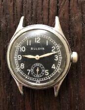 1944 Bulova Military Style 10AK Men's Wind Watch NEEDS SERVICE
