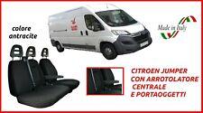 Coprisedili Citroën Citroen Jumper con tavolino fodere trapuntate auto antracite