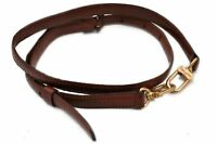 "Authentic Louis Vuitton Leather Shoulder Strap Brown 35-45.7"" LV 86109"