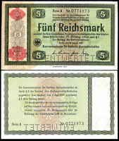 GERMANY 5 REICHSMARK 1933 OVPT 1934 P 207 AUNC about UNC
