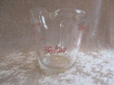 Vintage Fire King Clear Glass 16 oz. Measuring Cup #498