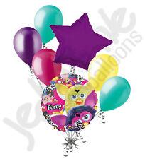 7 pc Furby Friends Balloon Bouquet Party Decoration Happy Birthday Cartoon Toy