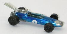 Redline Hotwheels Blue 1969 Brabham Repco Black Base oc12045