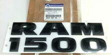 2015 2016 2017 2018 RAM 1500 front door flat black Nameplate Emblem new OEM