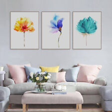 Watercolor Flower Floral Print Poster Living Room Home Decor Canvas Art Painting