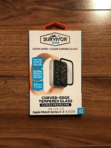 Griffin Survivor Glass Apple Watch Screen Protector 38 mm Series 3/2/1 - New