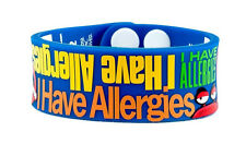AllerMates I HAVE ALLERGIES WRISTBAND Medical Alert ID WRITABLE Bracelet NEW