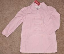 NWT GYMBOREE Pink Bow Uniform Trench Spring Coat~ 7-8