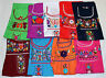 ASSORTED COLORS PEASANT PUEBLA HAND EMBROIDERED MEXICAN BLOUSE   XS,S,M,L,XL,XXL