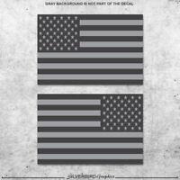 2x Light and dark gray flag / decal / mirror / vinyl / sticker / America / 3M