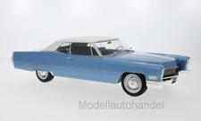 Cadillac DeVille Convertible, met.-hellblau/weiss 1968 - 1:18 KK-Scale  *NEW*