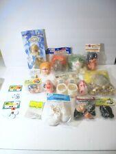 Craft Doll Making Supplies Head Shoes Eyes Lot Wood Spool Dolls Kits