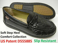 Slip Resistant Work Shoes Women Comfy Walking PU Leather US Patent D555885 N152