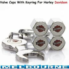 For Harley Davidson Logo Emblem Wheel Tyre Bike Valve Air Dust Cover Caps Gift