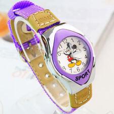 Fashion Mickey Fabric Strap Catoon Quartz Watches For Girl Boy
