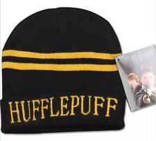 Harry Potter Hufflepuff Yellow & Black Hat Beanie Unisex 20cm US Seller
