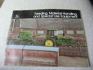 1975 John Deere loader skid-steer backhoe forklift material handling brochure
