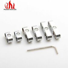 New 7mm 8mm and 9MM  SILVER ENGINE SPARK PLUG WIRE SEPARATOR DIVIDER CLAMP KIT