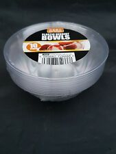 20 x clear plastic round bowls 10cm for party and all occasions