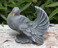 Steinfigur Taube Vogel Tierfigur Gartenfigur Gartendeko Dekofigur Geschenkidee