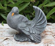 sculpture en pierre taupe oiseau tierfigur gartendeko Figurine décorative