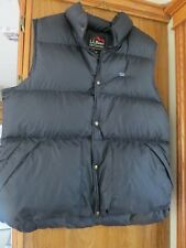 LL Bean Men's BLACK Goose Down Puffy Vest-Size Large Tall