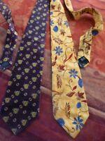 homme==lot 2   belles cravates= soie=== dont une marque BRICE