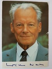 Autogrammkarte Willy Brandt