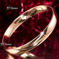 18K 18CT ROSE GOLD FILLED SLIP ON SOLID BANGLE LADY WOMENS BRACELET 10MM
