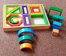 Goki Wooden Rainbow Building Blocks ** 38 Pieces**