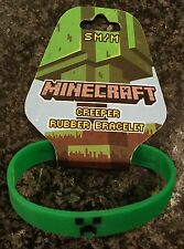 Minecraft Creeper Rubber Bracelet Size Medium