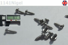 8mm x M3 Stainless Steel Round Head Screws High Strength Self-Tapping -