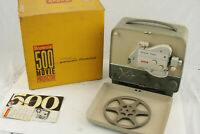 Kodak 500 Movie Projector 8mm - Broken Lock - Clean w/Box Manual Powers Up USED