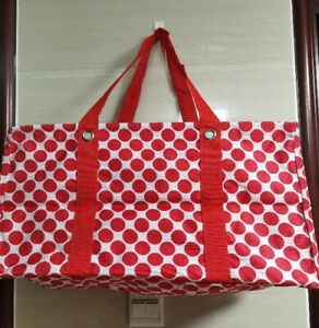 Thirty One Large Utility tote Storage Beach Picnic Laundry Basket Bag 31 Gift