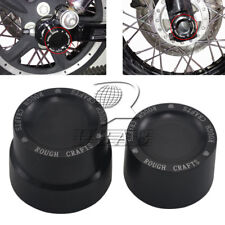 Pair CNC Aluminum RC Rear Axle Cover Cap Nut For Harley CVO Road Glide Softail