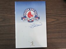1995 Boston Red Sox Hall of Fame Dinner Program Autograph Signed by Bobby Doerr