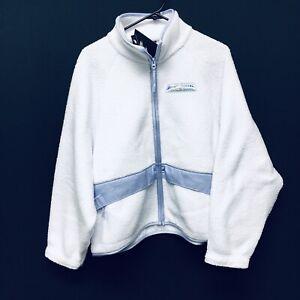 Nike Sportswear Sherpa Fleece (Womens Size S) Full Zip White Jacket