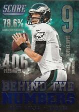2014 Score Behind The Numbers Blue #BN7 Nick Foles Eagles