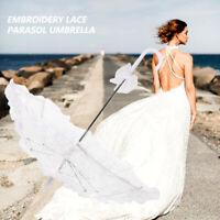 Embroidery Lace Parasol Umbrella Wedding Dancing Bridal Party Decor UK Stock